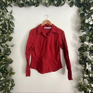 🎉Sale🎉Passport Casual Button Up Red